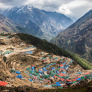 NEPAL. Everest Region, Namche Bazaar. May 5th, 2012. A Himalayan village delight.