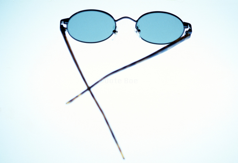 sunglasses on light box