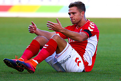 An injured Jamie Ward of Charlton Athletic - Mandatory by-line: Ryan Crockett/JMP - 11/11/2018 - FOOTBALL - One Call Stadium - Mansfield, England - Mansfield Town v Charlton Athletic - Emirates FA Cup first round proper