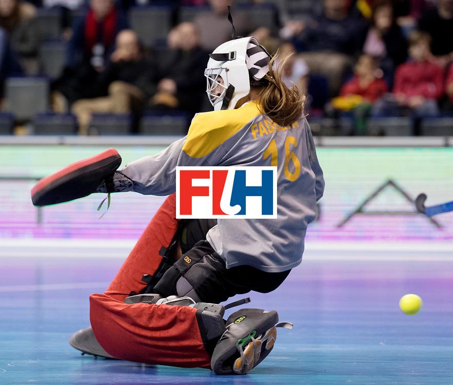 BERLIN - Indoor Hockey World Cup<br /> Women: Ukraine - Germany<br /> foto: FADIEIEVA Alina.<br /> WORLDSPORTPICS COPYRIGHT FRANK UIJLENBROEK