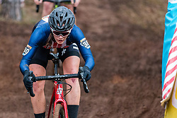 ARENSMAN Hannah (USA) during Women Elite race, 2019 UCI Cyclo-cross World Cup Heusden-Zolder, Belgium, 26 December 2019.  <br /> <br /> Photo by Pim Nijland / PelotonPhotos.com <br /> <br /> All photos usage must carry mandatory copyright credit (Peloton Photos | Pim Nijland)