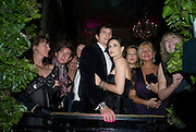 LOUISE GUINNESS; RICHARD DENNEN;  ASHTON KUTCHER; DEMI MOORE; CATHERINE GUINNESS. WATCHING BRUCE WILLIS AND SCOUT WILLIS HAVING  FIRST DANCE. The 2008 Crillon Debutante Ball, Crillon Hotel. Paris. 29 November 2008 *** Local Caption *** -DO NOT ARCHIVE -Copyright Photograph by Dafydd Jones. 248 Clapham Rd. London SW9 0PZ. Tel 0207 820 0771. www.dafjones.com