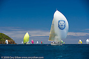 Lolita sailing Race 4 at Antigua Sailing Week.