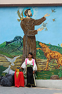 Indigenous people at Otavalo Market, Andes Mountains, Ecuador