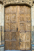 West Door, front, of Santa María de León Cathedral in Leon, Castilla y Leon, Spain