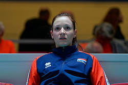 10–01-2020 NED: Olympic qualification tournament women Netherlands - Poland, Apeldoorn<br /> The Dutch volleyball players lost the third group match of the OKT in Apeldoorn 3-1 against Poland / Lonneke Sloetjes #10 of Netherlands