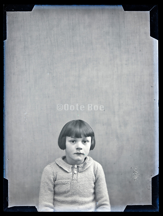 circa 1930s studio portrait of a little girl