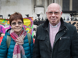 © Licensed to London News Pictures. 29/11/2017. London, UK. Reverend Alexander Love and Sirkka-Liisa Love parents of Lauri Love arrive at the High Court. Lauri Love is appealing extradition to the US over alleged cyber-hacking. Photo credit: Peter Macdiarmid/LNP