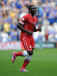 Cardiff City's Kenwyne Jones - Photo mandatory by-line: Alex James/JMP - Mobile: 07966 386802 30/08/2014 - SPORT - FOOTBALL - Cardiff - Cardiff City stadium - Cardiff City  v Norwich City - Barclays Premier League
