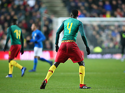 November 20, 2018 - Milton Keynes, United Kingdom - Yaya Banana of Cameroon  showing of his under pants.during Chevrolet Brazil Global Tour International Friendly between Brazil and Cameroon at Stadiummk stadium , MK Dons Football Club, England on 20 Nov 2018.. Editorial use ONLY. No print sales. No personal use sales. NO UNPAID USE. (Credit Image: © Action Foto Sport/NurPhoto via ZUMA Press)