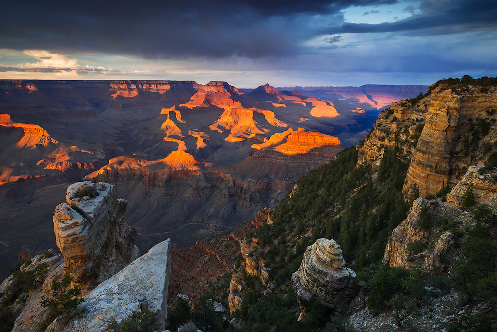 Sunset from Yaki Point on the South Rim of Grand Canyon National Park.