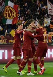 December 26, 2018 - Rome, Italy - Patrik Schick celebrates after scoring goal 2-0 during the Italian Serie A football match between A.S. Roma and Sassuolo at the Olympic Stadium in Rome, on december 26, 2018. (Credit Image: © Silvia Lore/NurPhoto via ZUMA Press)