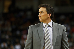 October 29, 2010; Oakland, CA, USA;  Los Angeles Clippers head coach Vinny Del Negro on the sidelines against the Golden State Warriors during the first quarter at Oracle Arena.
