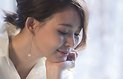 Japanese model Shiho Yano poses during a photo shoot for a South Korean brand in Gwangju, southeast of Seoul, South Korea, February 4, 2016.  www.leejaewonpix.com