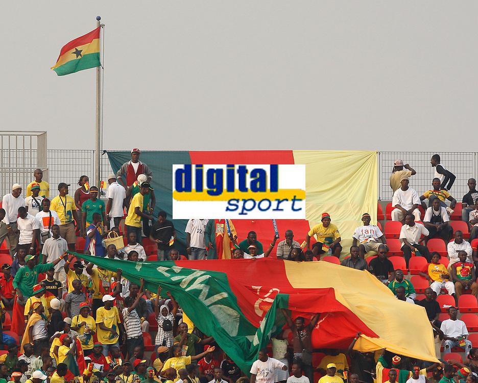 Photo: Steve Bond/Richard Lane Photography.<br />Cameroun v Zambia. Africa Cup of Nations. 26/01/2008. Cameroon flags at Kumasi