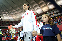 14.10.2014, Nationalstadium, Warsaw, POL, UEFA Euro Qualifikation, Polen vs Schottland, Gruppe D, im Bild WOJCIECH SZCZESNY // during the UEFA EURO 2016 Qualifier group D match between Poland and Scotland at the Nationalstadium in Warsaw, Poland on 2014/10/14. EXPA Pictures © 2014, PhotoCredit: EXPA/ Newspix/ Lukasz Grochala<br /> <br /> *****ATTENTION - for AUT, SLO, CRO, SRB, BIH, MAZ, TUR, SUI, SWE only*****