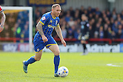 Barry Fuller (Captain) defender for AFC Wimbledon (2) in action during the Sky Bet League 2 match between AFC Wimbledon and Crawley Town at the Cherry Red Records Stadium, Kingston, England on 16 April 2016. Photo by Stuart Butcher.