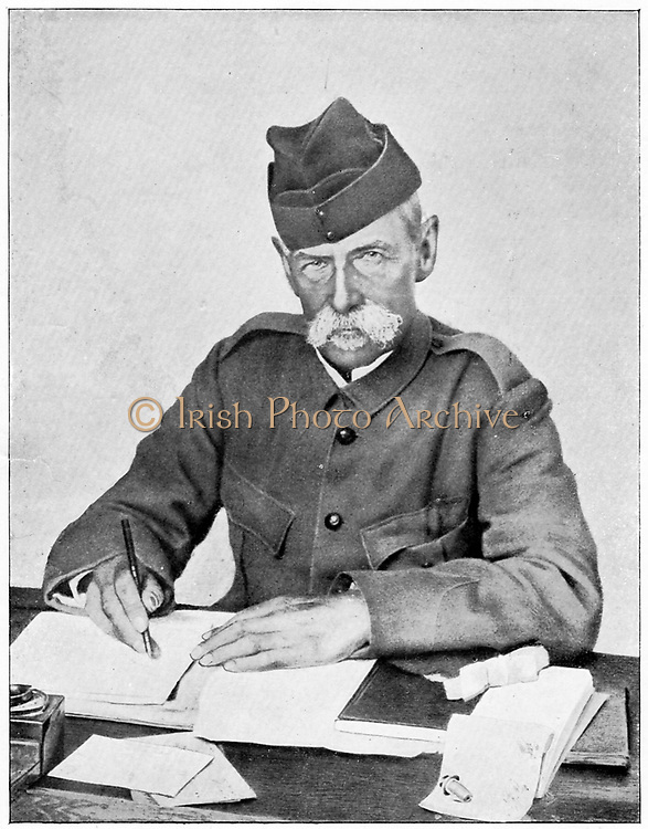 Frederick Sleigh Roberts  (1832-1914) English soldier. Field Marshal 1895. As commander-in-chief in the field, writing dispatches in his wagon tent, Paardeberg. 2nd Boer War 1899-1902.