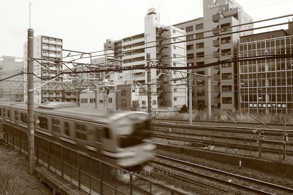 Mar 7, 2006; Tokyo, JPN; Ryogoku.Train just outside of the Ryogoku Station...Photo credit: Darrell Miho