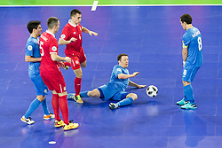 Denis Ramic of Serbia during futsal quarter-final match between National teams of Kazakhstan and Serbia at Day 7 of UEFA Futsal EURO 2018, on February 5, 2018 in Arena Stozice, Ljubljana, Slovenia. Photo by Urban Urbanc / Sportida