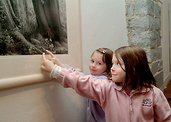 Identical twins Annbelle and Charlotte Naughton from Glenisland were pictured at the opening of the Karen Spence exhibition at the Custom House Studio Gallery, Westport.<br /><br />Pic: Conor McKeown.