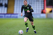 Forest Green Rovers Nathan McGinley(19) runs forward during the EFL Sky Bet League 2 match between Stevenage and Forest Green Rovers at the Lamex Stadium, Stevenage, England on 26 December 2019.