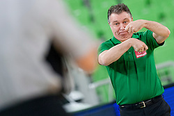 Ruben Magnano, head coach of team Brasil during basketball match in the context of Telemach tournament between National Teams of Lithuania and Brasil on August 21, 2014 in SRC Stozice, Ljubljana, Slovenia. Photo by Urban Urbanc / Sportida.com
