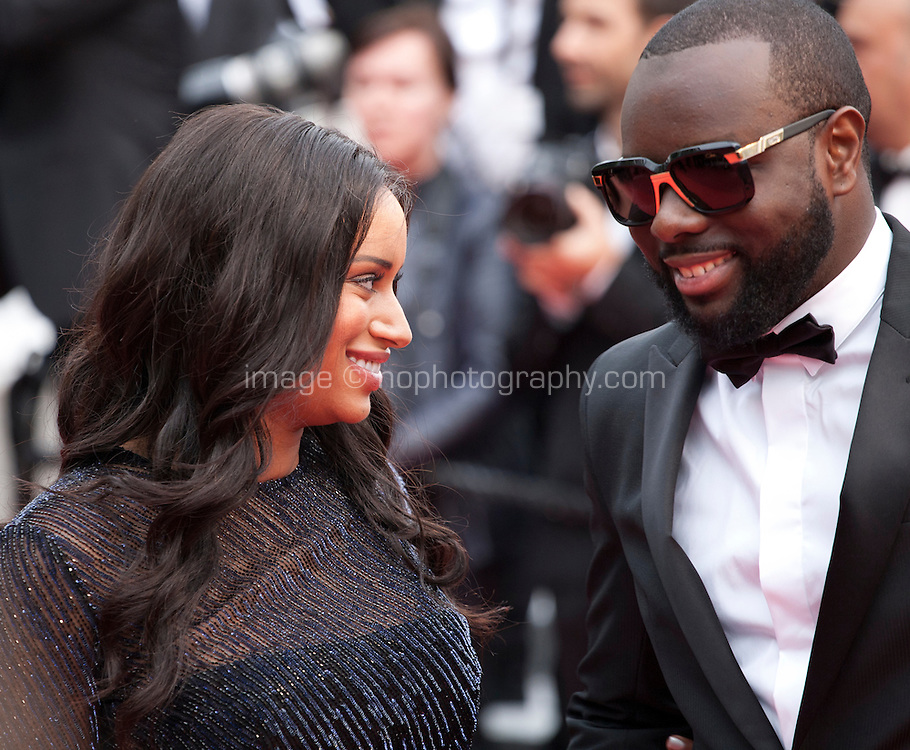 Rapper Maitre Gims  and DemDem at the gala screening for the film The BFG at the 69th Cannes Film Festival, Saturday 14th May 2016, Cannes, France. Photography: Doreen Kennedy