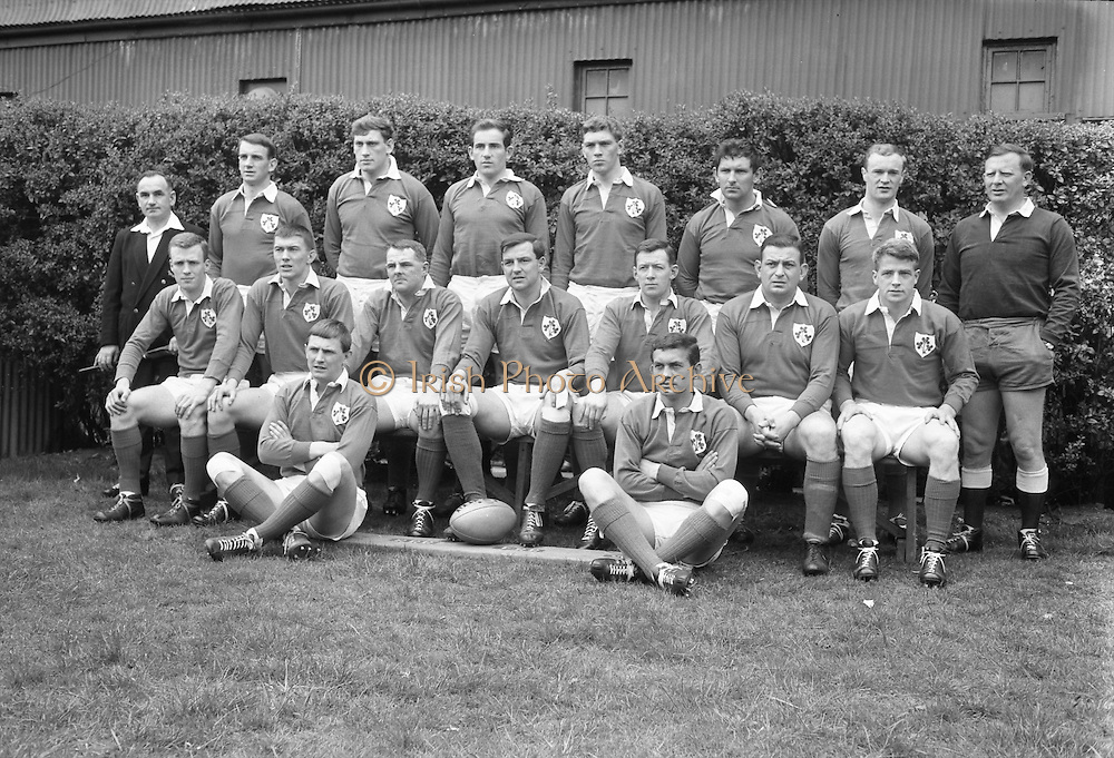 Irish Rugby Football Union, Ireland v France, Five Nations, Landsdowne Road, Dublin, Ireland, Saturday 15th April, 1967,.15.4.1967, 4.15.1967,..Referee- R P Burrell, Scottish Rugby Union, ..Score- Ireland 6- 11 France, ..Irish Team, ..T J Kiernan,  Wearing number 15 Irish jersey, Full Back, Cork Constitution Rugby Football Club, Cork, Ireland,..R D Scott, Wearing number 14 Irish jersey, Right Wing, Queens University Rugby Football Club, Belfast, Northern Ireland, ..F P K Bresnihan, Wearing number 13 Irish jersey, Right Centre, University College Dublin Rugby Football Club, Dublin, Ireland, ..J C Walsh,  Wearing number 12 Irish jersey, Left Centre, Sundays Well Rugby Football Club, Cork, Ireland, ..N H Brophy, Wearing number 11 Irish jersey, Left wing, Blackrock College Rugby Football Club, Dublin, Ireland, ..C M H Gibson, Wearing number 10 Irish jersey, Stand Off, N.I.F.C, Rugby Football Club, Belfast, Northern Ireland, ..R M Young, Wearing number 9 Irish jersey, Scrum Half, Queens University Rugby Football Club, Belfast, Northern Ireland,..K G Goodall, Wearing number 8 Irish jersey, Forward, Newcastle University Rugby Football Club, Newcastle, England, ..M G Doyle, Wearing number 7 Irish jersey, Forward, Edinburgh Wanderers Rugby Football Club, Edinburgh, Scotland, ..N A Murphy, Wearing number 6 Irish jersey, Captain of the Irish team, Forward, Cork Constitution Rugby Football Club, Cork, Ireland,..M G Molloy, Wearing number 5 Irish jersey, Forward, University College Galway Rugby Football Club, Galway, Ireland,  ..W J McBride, Wearing number 4 Irish jersey, Forward, Ballymena Rugby Football Club, Antrim, Northern Ireland,..S A Hutton, Wearing number 3 Irish jersey, Forward, Malone Rugby Football Club, Belfast, Northern Ireland, ..K W Kennedy, Wearing number 2 Irish jersey, Forward, C I Y M S Rugby Football Club, Belfast, Northern Ireland, ..S MacHale, Wearing number 1 Irish jersey, Forward, Landsdowne Rugby Football Club, Dublin, Ireland, ...
