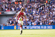 Arsenal midfielder Alex Oxlade-Chamberlain (15) during the FA Community Shield match between Arsenal and Chelsea at Wembley Stadium, London, England on 6 August 2017. Photo by Sebastian Frej.
