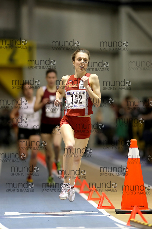 Windsor, Ontario ---14/03/09--- Lindsay Carson of  the University of Guelph competes in the Women's 1500m Final at the CIS track and field championships in Windsor, Ontario, March 14, 2009..Sean Burges Mundo Sport Images