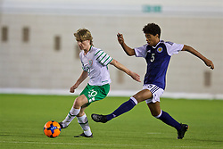 EDINBURGH, SCOTLAND - Friday, November 4, 2016: Republic of Ireland's Luca Connell and Scotland's Ethan Erhanon during the Under-16 2016 Victory Shield match at ORIAM. (Pic by David Rawcliffe/Propaganda)
