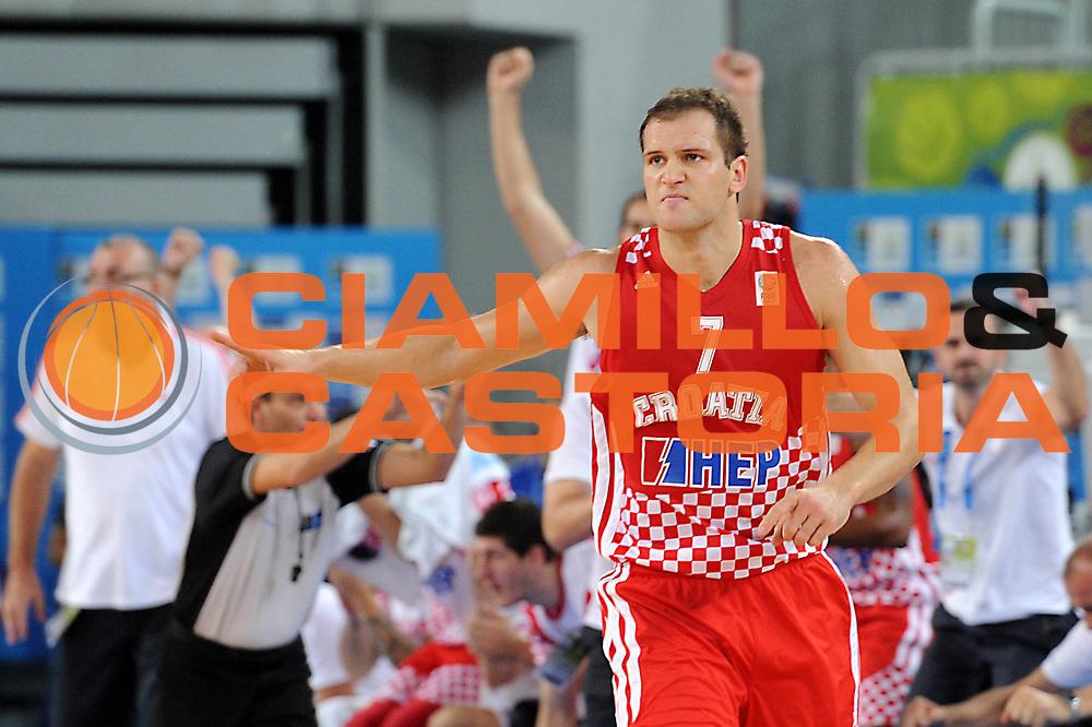 DESCRIZIONE : Lubiana Ljubliana Slovenia Eurobasket Men 2013 Finale Terzo Quarto Posto Spagna Croazia Final for 3rd to 4th place Spain Croatia<br /> GIOCATORE : Bojan Bogdanovic<br /> CATEGORIA : esultanza jubilation<br /> SQUADRA : Croazia Croatia<br /> EVENTO : Eurobasket Men 2013<br /> GARA : Spagna Croazia Spain Croatia<br /> DATA : 22/09/2013 <br /> SPORT : Pallacanestro <br /> AUTORE : Agenzia Ciamillo-Castoria/C.De Massis<br /> Galleria : Eurobasket Men 2013<br /> Fotonotizia : Lubiana Ljubliana Slovenia Eurobasket Men 2013 Finale Terzo Quarto Posto Spagna Croazia Final for 3rd to 4th place Spain Croatia<br /> Predefinita :