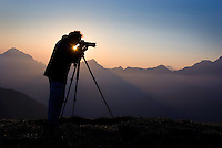 Photographer Edwin Giesbers at work, Liechtenstein