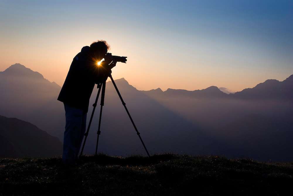 Photographer Edwin Giesbers at work, Liechtenstein