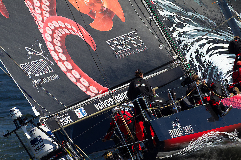SOUTH AFRICA. 11th December 2011. Volvo Ocean Race. Start of Leg 2, Cape Town to Abu Dhabi. PUMA powered by BERG.
