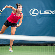 August 21, 2016, New Haven, Connecticut: <br /> Anastasija Sevastova of Latvia in action during Day 3 of the 2016 Connecticut Open at the Yale University Tennis Center on Sunday, August  21, 2016 in New Haven, Connecticut. <br /> (Photo by Billie Weiss/Connecticut Open)