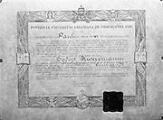23/06/1965<br /> 06/23/1965<br /> 23 June 1965<br /> Copy of certificate for Rev. Rweyemamu Sadoth, Cypress Grove, Templeogue, Dublin.
