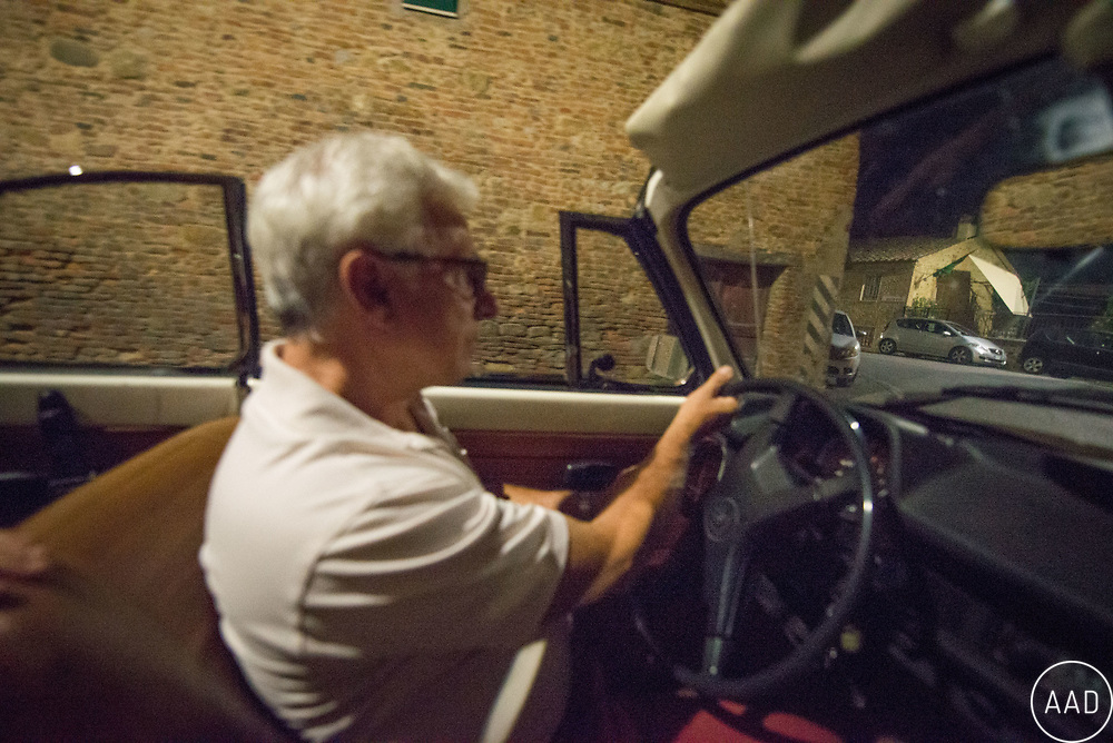 Alessandro Mazzuoli from Città della Pieve (Umbria, Italy) is a winemaker, olive farmer and produces safran too. His 4WD is broken, so he drives around in his 40 years old VW Beetle.