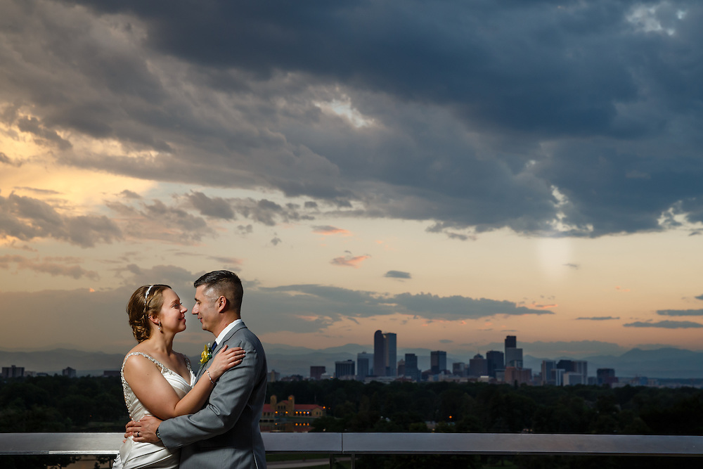 Megan Chadwick and Bill Gernert are married in Denver, Saturday, July 30, 2016. Photo by Justin Edmonds