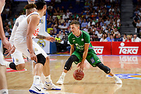 Real Madrid's Jeffery Taylor and Gustavo Ayon and Unicaja Malaga's Nemanja Nedovic during semi finals of playoff Liga Endesa match between Real Madrid and Unicaja Malaga at Wizink Center in Madrid, May 31, 2017. Spain.<br /> (ALTERPHOTOS/BorjaB.Hojas)