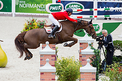 Sameh El Dahan, (EGY), Suma s Zorro - Team & Individual Competition Jumping Speed - Alltech FEI World Equestrian Games™ 2014 - Normandy, France.<br /> © Hippo Foto Team - Leanjo De Koster<br /> 02-09-14