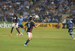 August 20, 2017 - New York, New York, United States - Kelyn Rowe (11) of New England Revolution controls ball during regular MLS game against NYC FC on Yankee stadium NYC FC won 2 - 1  (Credit Image: © Lev Radin/Pacific Press via ZUMA Wire)