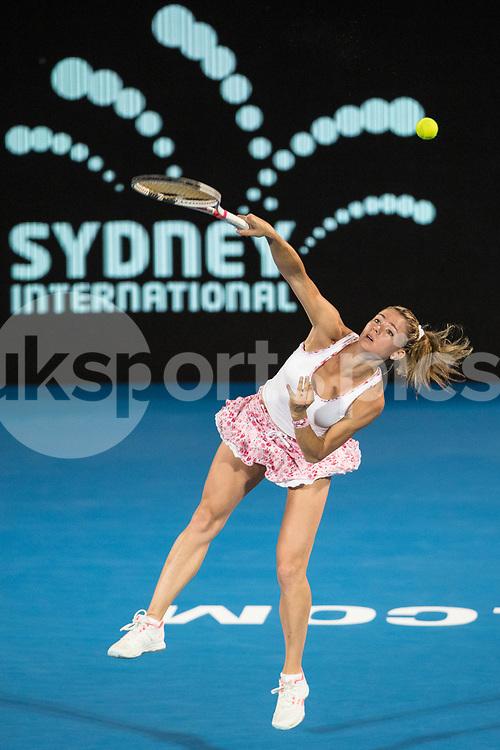 Camila Giorgi of Italy defeated Agnieszka Radwanska of Poland 6-1 6-2 during the Sydney International 2018 at Sydney Olympic Park Tennis Centre, Sydney, Australia on 11 January 2018. Photo by Peter Dovgan.