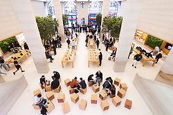 © Licensed to London News Pictures. 20/09/2019. London, UK. Customers and staff inside an Apple store as the new iPhone 11 and Watch Series 5 . Photo credit: Ray Tang/LNP