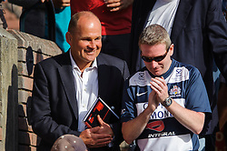 Bristol Rugby Director of Rugby Andy Robinson looks pleased after his sides dominant performance - Photo mandatory by-line: Rogan Thomson/JMP - Tel: Mobile: 07966 386802 01/09/2013 - SPORT - RUGBY UNION - Station Road, Cribbs Causeway, Bristol - Clifton RFC v Bristol Rugby - Pre Season Friendly.