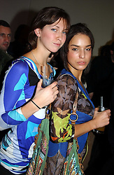 Left to right, Actress MARGO STILLEY and LULU STOFFEL at a party to celebrate the 4th anniversary of Quintessentially held at 11 Grosvenor Place, London  SW1 on 14th December 2004.<br /><br />NON EXCLUSIVE - WORLD RIGHTS