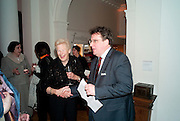 DAME GILLIAN WAGNER; LARS THARP;;, Founding Fellows 2010 Award Ceremony. Foundling Museum on Monday  8 March