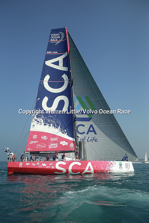 January 3, 2015. The Start of Leg 3; Team SCA
