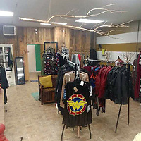 An assortment of clothing options is pictured in the store. Charlee's Angels also offers jewelry, accessories, lotions, candles and bath supplies.
